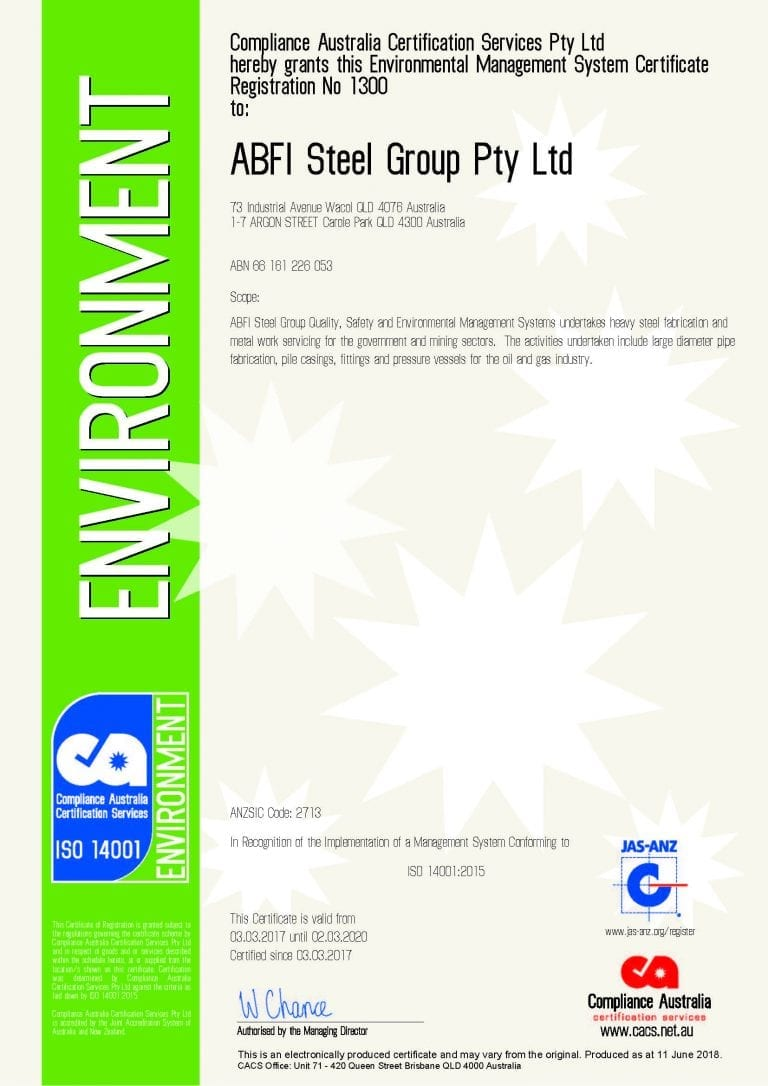 Environmental Management Systems – AS/NZS 14001:2015