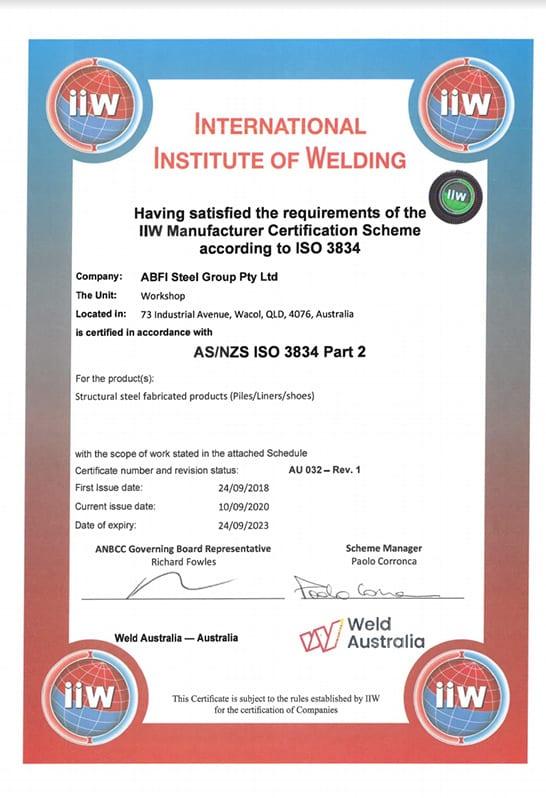 ABFI-ISO-3834-2-Certificate